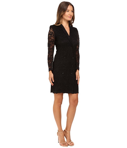 THE KOOPLES Jacket Style Wrap-Around Dress In Lace