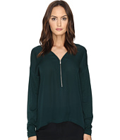 The Kooples - Long Sleeve T-Shirt Front Zip