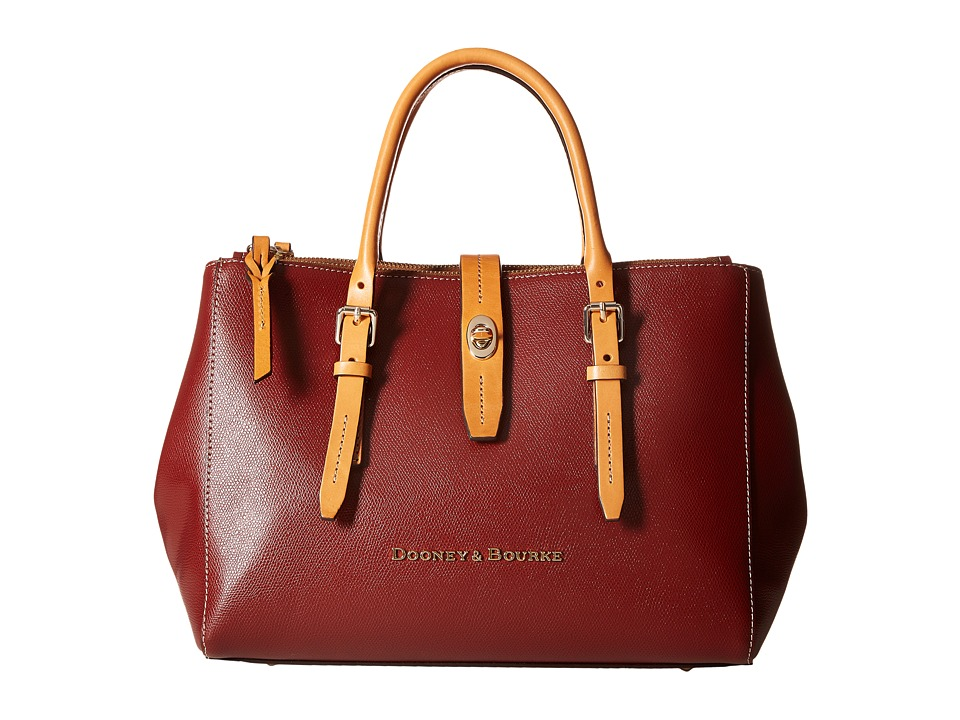 Dooney & Bourke - Claremont Miller Satchel (Cranberry) Satchel Handbags