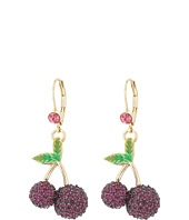 Betsey Johnson - Calypso Cherry Drop Earrings