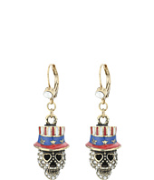 Betsey Johnson - Americana Skull Drop Earrings