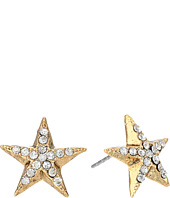 Betsey Johnson - Americana Crystal Star Stud Earrings