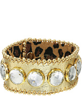 Betsey Johnson - Throwback Betsey Gold Leather Bracelet