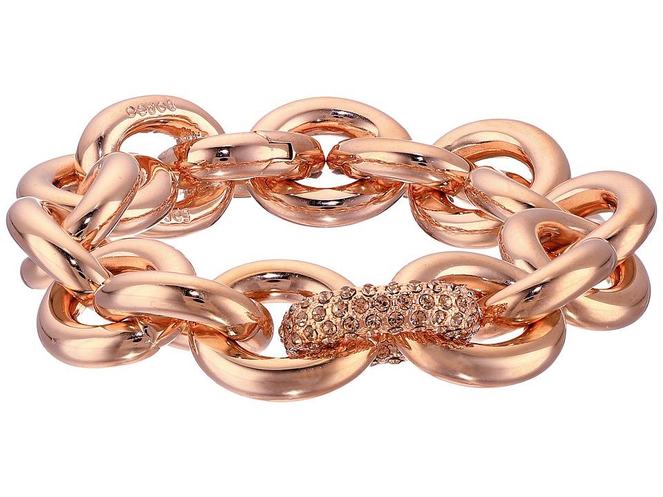 Eddie Borgo One Pav Link Chain Bracelet Shiny Plated Brass/Pav Crystal Bracelet