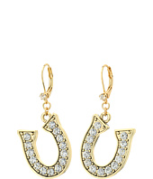 Betsey Johnson - Throwback Betsey Horseshoe Drop Earrings