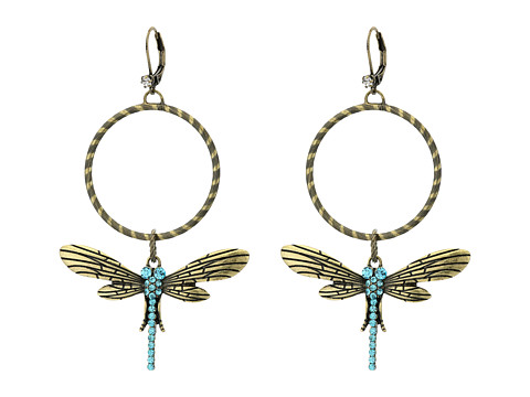 Betsey Johnson Throwback Betsey Dragonfly Gypsy Hoops