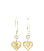 Betsey Johnson - Throwback Betsey Heart Drop Earrings