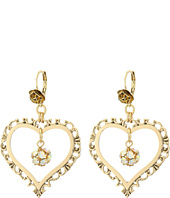 Betsey Johnson - Throwback Betsey Large Heart Earrings