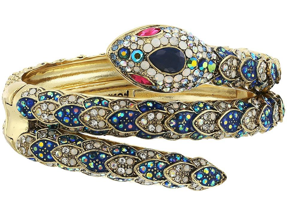 Betsey Johnson - Blue Snake Cuff Bracelet (Blue Multi) Bracelet