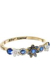 Betsey Johnson - Blue Floral Hinge Cuff Bracelet