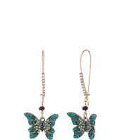 Betsey Johnson - Butterfly Shepherd Hook Earrings