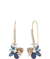 Betsey Johnson - Blue Floral Shepherd Hook Earrings