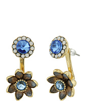 Betsey Johnson - Blue Floral Front Back Earrings