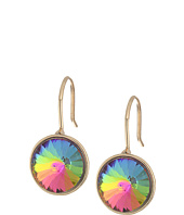 Betsey Johnson - Butterfly Round Stone Drop Earrings