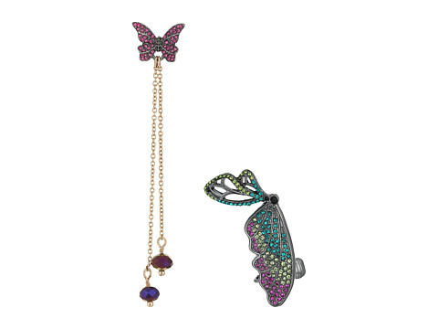 Betsey Johnson Butterfly Wing Cuff Earring Set