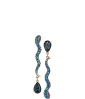 Betsey Johnson - Blue Snake Non-Matching Earrings