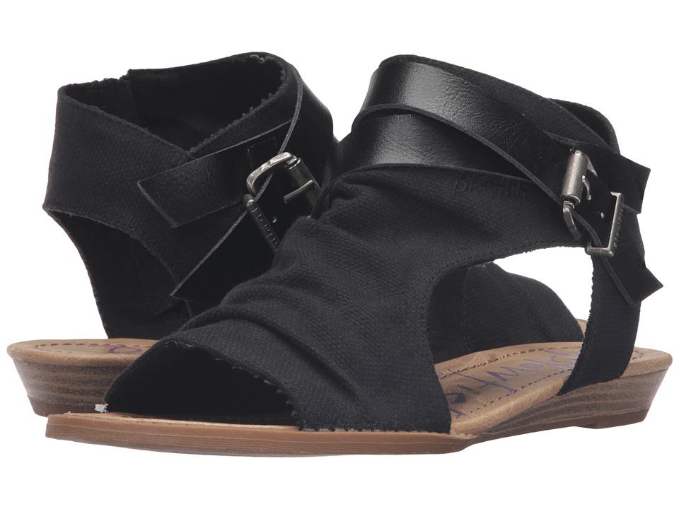 Blowfish - Balla (Solid Black Rancher/Black Dyecut) Womens Shoes