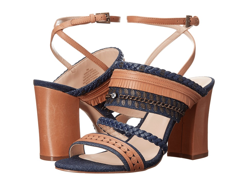 Nine West Baebee Blue/Multi Denim High Heels