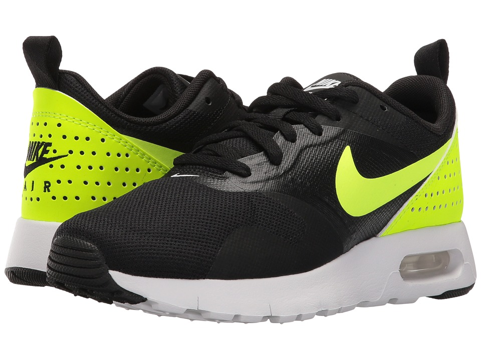 Nike Kids Air Max Tavas GS (Big Kid) (Black/White/Volt) Boys Shoes