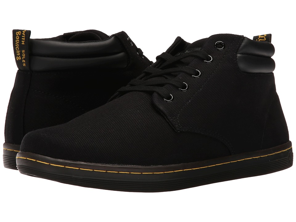 Dr. Martens Maleke Padded Collar Boot (Black Overdyed Twill Canvas) Men