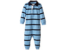 Ralph Lauren Baby YD Rugby Jersey Stripe Coveralls (Infant)