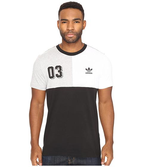 adidas Originals Bold Panel Graphic Tee - Black/White/Medium Grey Heather