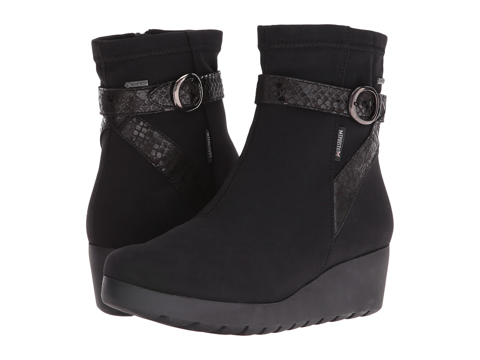 Mephisto - Tyba GT (Black Stretch/Queen) Women's  Shoes