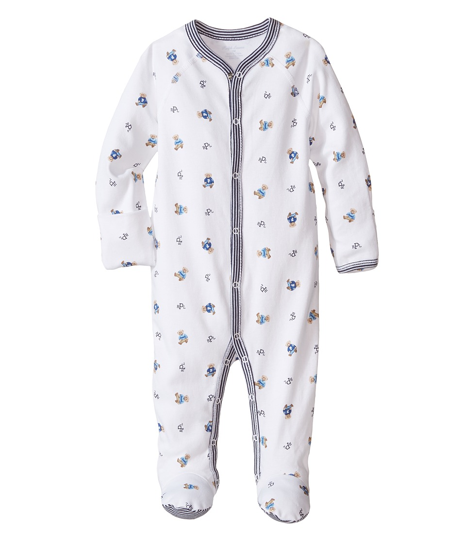 Ralph Lauren Baby - Printed Interlock Bear Coveralls