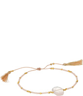 Chan Luu - 6' Adjustable Rose Quartz Pull Tie Single Bracelet