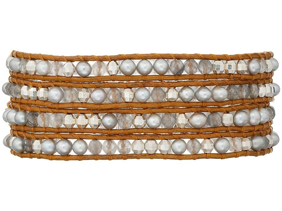 Chan Luu 32 Grey Pearl Mix Wrap Bracelet Grey Pearl Mix Bracelet