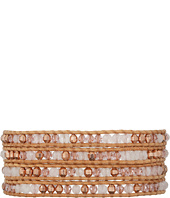 Chan Luu - 32' Rose Quartz Swarovski Mix Wrap Bracelet