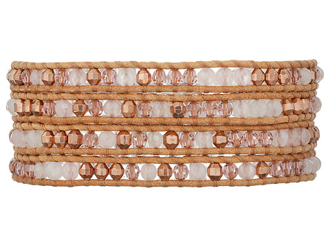 Chan Luu 32' Rose Quartz Swarovski Mix Wrap Bracelet