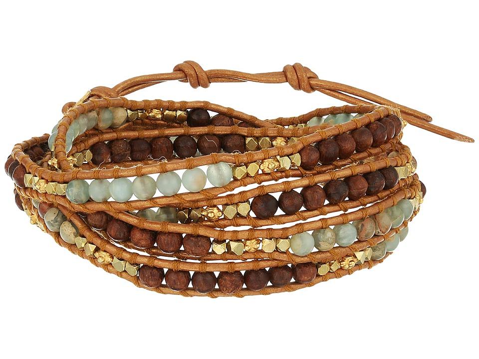Chan Luu 32 Aqua Terra Mix Wrap Bracelet Aqua Terra Bracelet