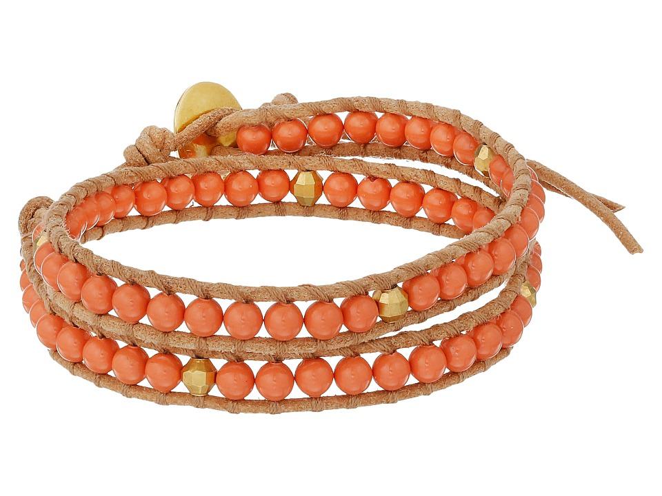 Chan Luu 12 Salmon Pearl Double Wrap Bracelet Salmon Pearl/Beige Bracelet