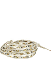 Chan Luu - 32' Gold Mix Pearl Leather Wrap Bracelet