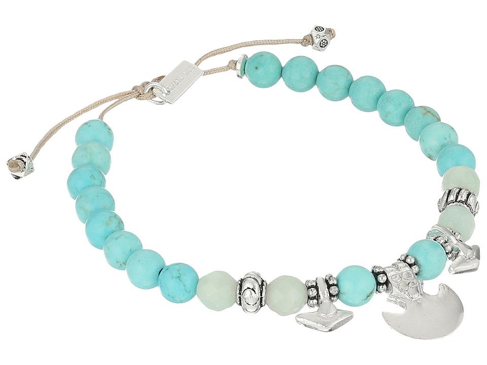 Chan Luu 6 1/4 Black Wood Mix Pull Tie Single Bracelet Turquoise Mix Bracelet
