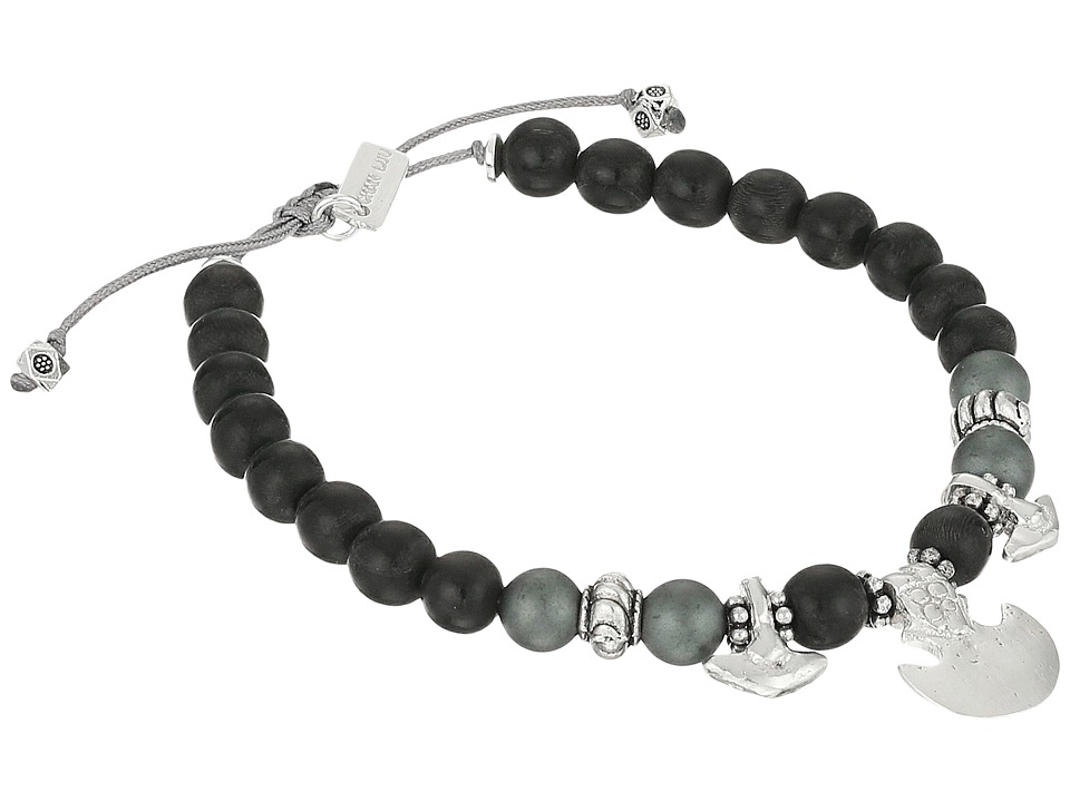 Chan Luu 6 1/4 Black Wood Mix Pull Tie Single Bracelet Black Wood Mix Bracelet