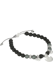 Chan Luu - 6 1/4' Black Wood Mix Pull Tie Single Bracelet