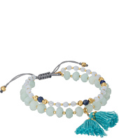 Chan Luu - 6' Adjustable Light Blue Mix Double Strand Single Bracelet