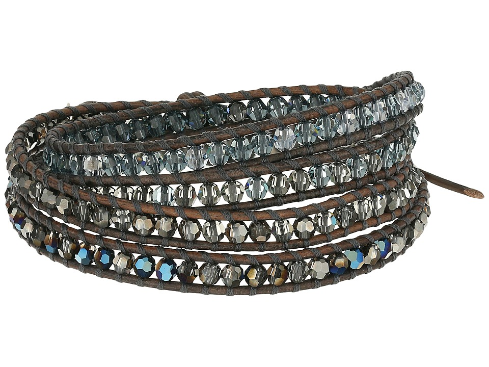 Chan Luu 32 Black Diamond Swarovski Mix Wrap Bracelet Black Diamond Mix Bracelet