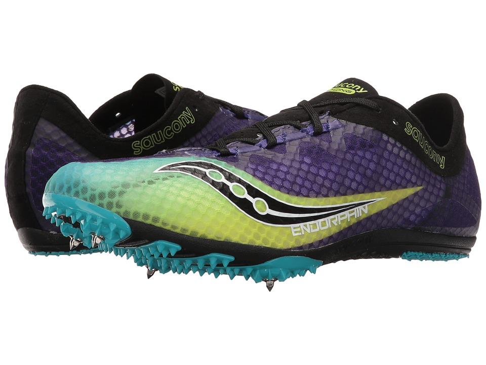 Saucony - Endorphin (Purple/Citron/Black) Mens Running Shoes