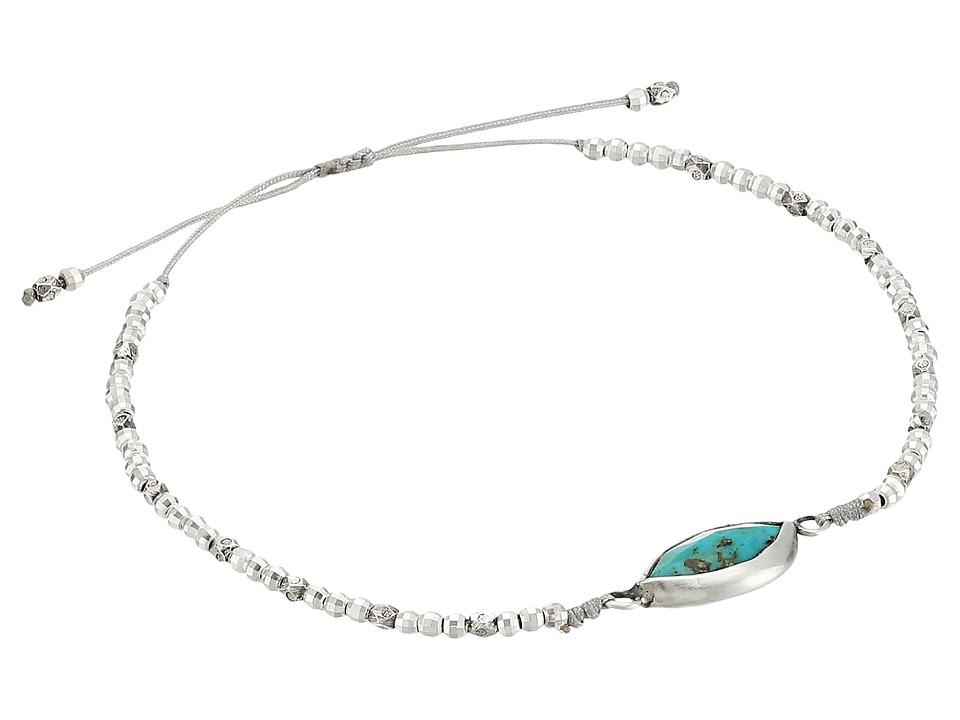 Chan Luu - 6' Adjustable Semi Precious Turquoise Marquise Stone Pendant Bracelet (Turquoise) Bracelet