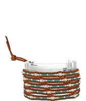Chan Luu - 32' Freshwater Pearl Wrap Bracelet with Seed Beads and Sterling Silver Accents