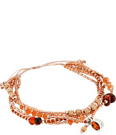 Chan Luu - 6' Adjustable Carnelian Multi Strand Pull Tie Single Bracelet