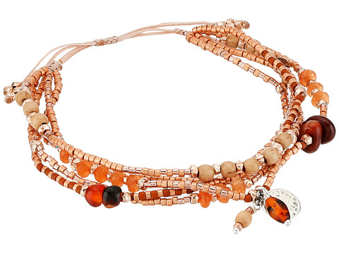 Chan Luu 6' Adjustable Carnelian Multi Strand Pull Tie Single Bracelet