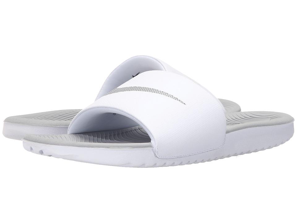 Nike - Kawa Slide (White/Metallic Silver) Women's Sandals