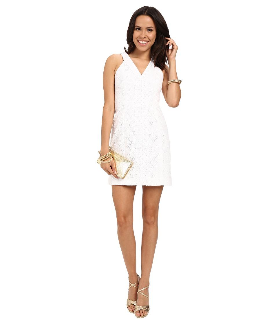 Lilly Pulitzer Lynn Shift Dress Resort White Pop The Bubbly Womens Dress