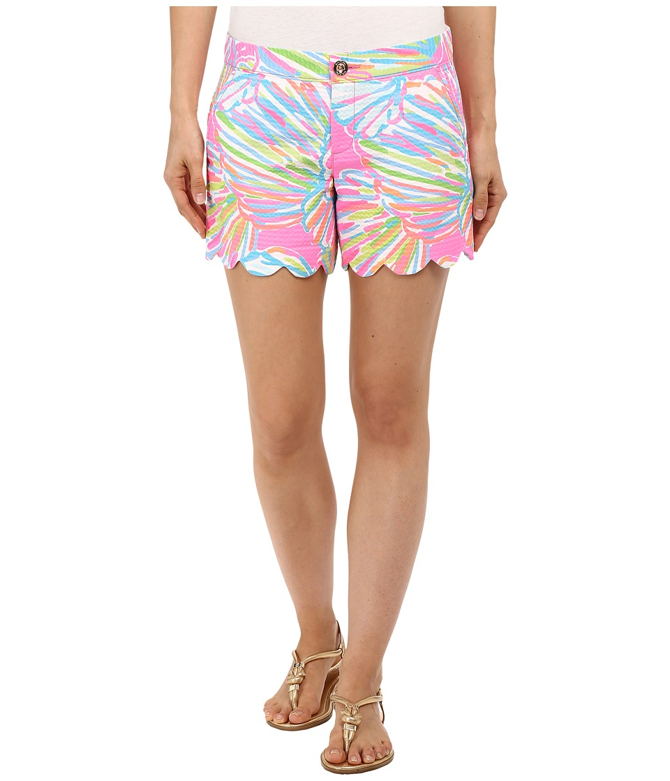 Lilly Pulitzer Buttercup Shorts Pink Pout Shellabrate Womens Shorts