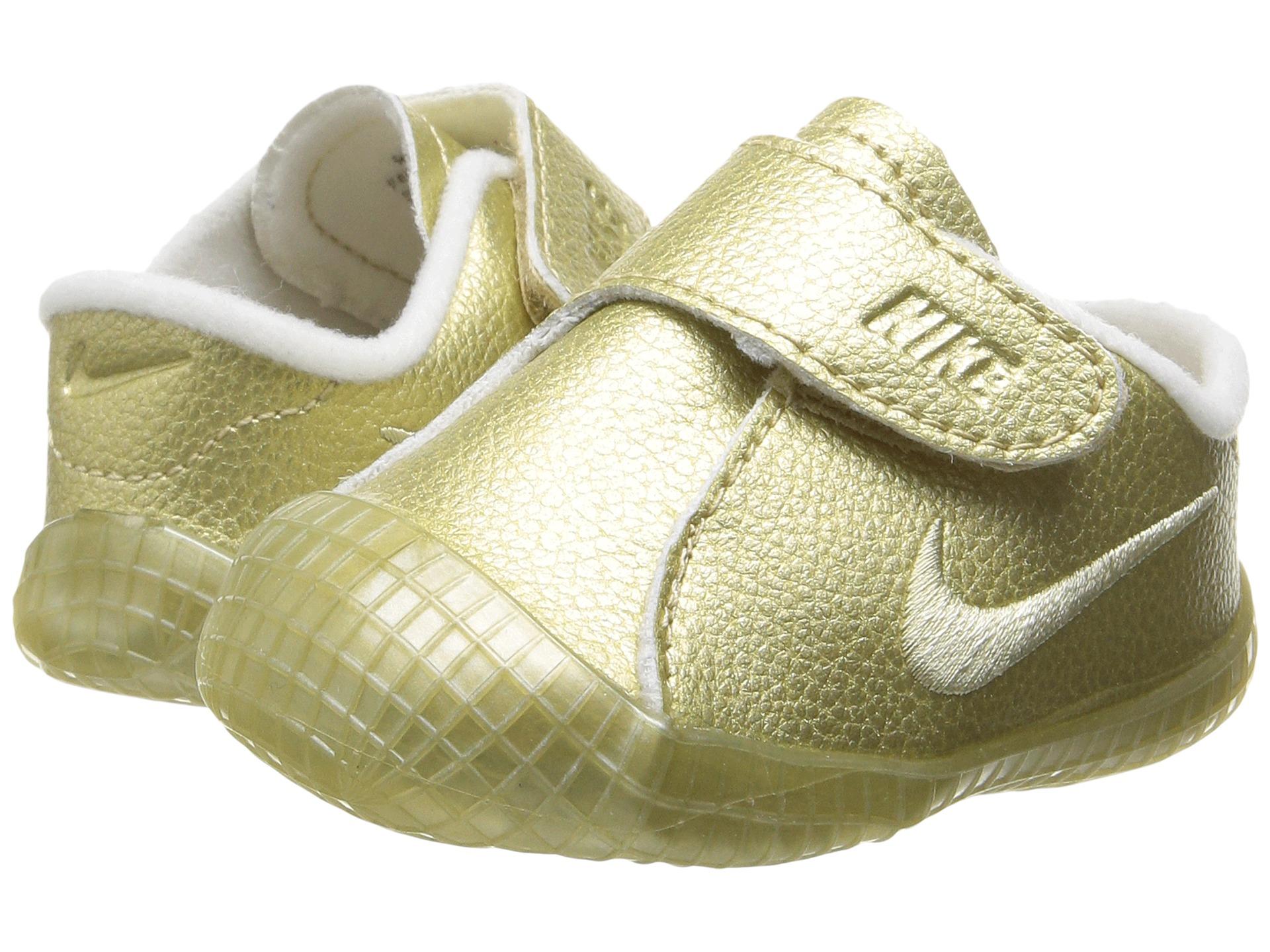 Nike Kids Waffle 1 PRM (Infant/Toddler) Metallic Gold Star ...