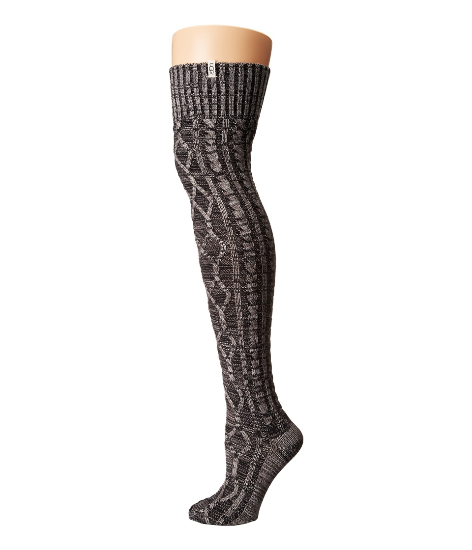 UGG - Classic Cable Knit Socks (Charcoal Heather) Women